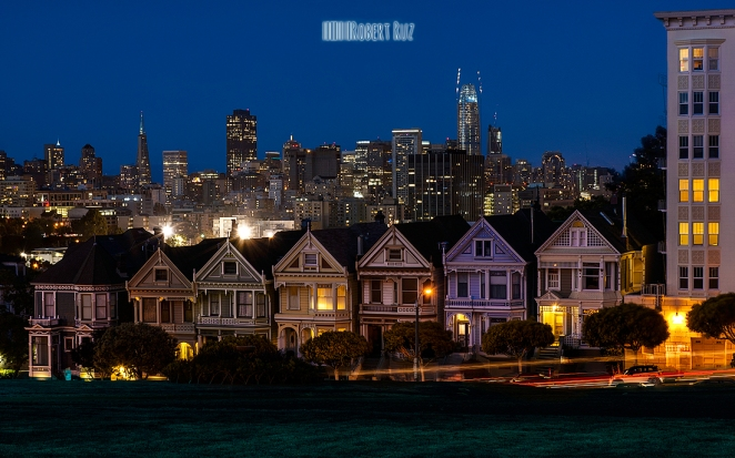 Alamo Square at Night
