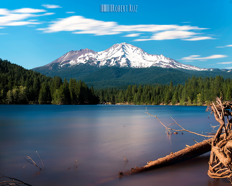 Mount Shasta from Siskiyou Lake, California